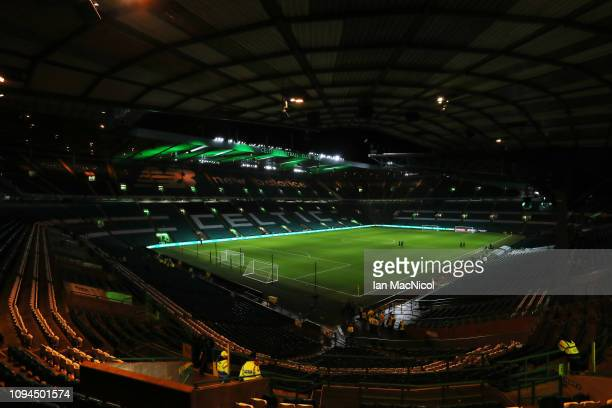 A general view of the stadium is seen ahead of the Ladbrokes Premiership match between Celtic and Hibernian at Celtic Park on February 6 2019 in...