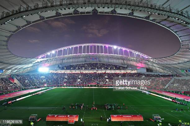 A general view of the stadium is seen before the FIFA Club World Cup 2019 final match between Liverpool FC and CR Flamengo at Khalifa International...