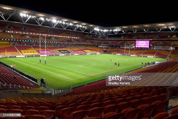 General view of the stadium is seen before the round four NRL match between the Brisbane Broncos and the Sydney Roosters at Suncorp Stadium on June...