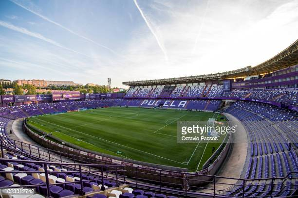 General view of the stadium Jose Zorrilla prior the La Liga match between Real Valladolid CF and FC Barcelona at Jose Zorrilla on August 25 2018 in...