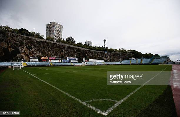 General view of the Stadium Kantrida ahead of the UEFA Europa League match between HNK Rijeka and Feyenoord on October 23, 2014 in Rijeka, Croatia.