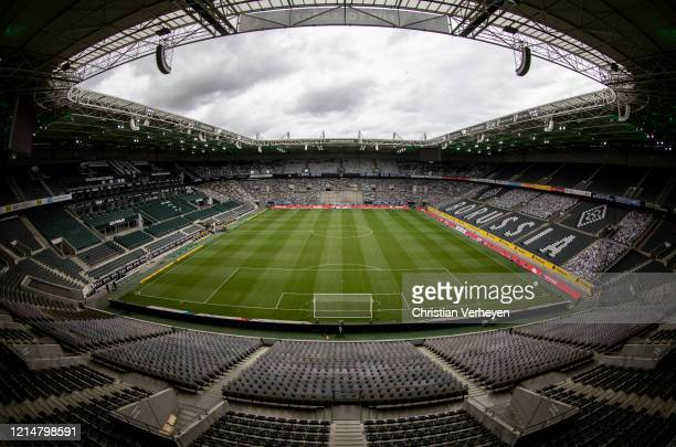 General view of the stadium of Borussia Moenchengladbach before the Bundesliga match between Borussia Moenchengladbach and Bayer 04 Leverkusen at...