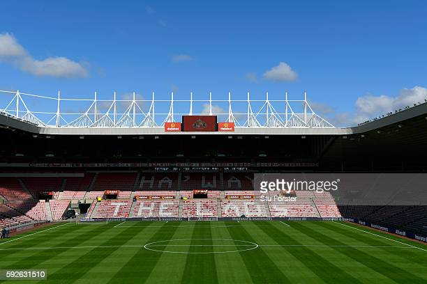 A general view of the Stadium of Light before the Premier League match between Sunderland and Middlesbrough at Stadium of Light on August 21 2016 in...