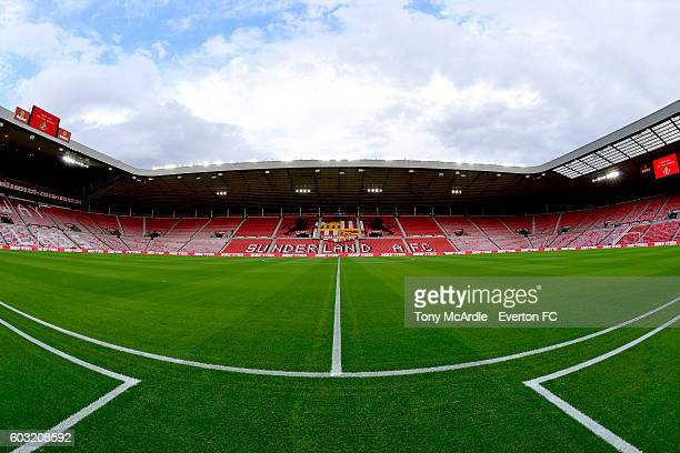 A general view of the Stadium of Light before the Premier League match between Sunderland and Everton at the Stadium of Light on September 12 2016 in...