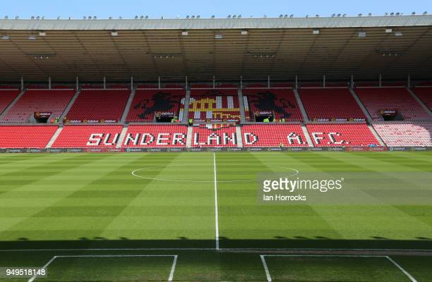 A general view of the Stadium of Light before the Sky Bet Championship match between Sunderland and Burton Albion at Stadium of Light on April 21...