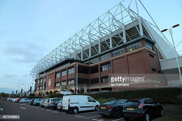 General view of The Stadium of Light during the Barclaclays U21 League match between Sunderland AFC and Leicester City FC at The Stadium of Light on...