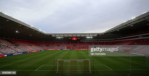 A general view of the Stadium of Light during the Barclays Premier League match between Sunderland and Bournemouth at The Stadium of Light on January...