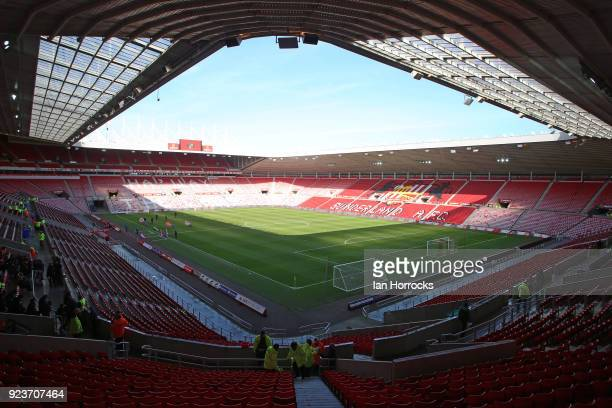 A general view of the Stadium of Light during the Sky Bet Championship match between Sunderland and Middlesbrough at Stadium of Light on February 24...