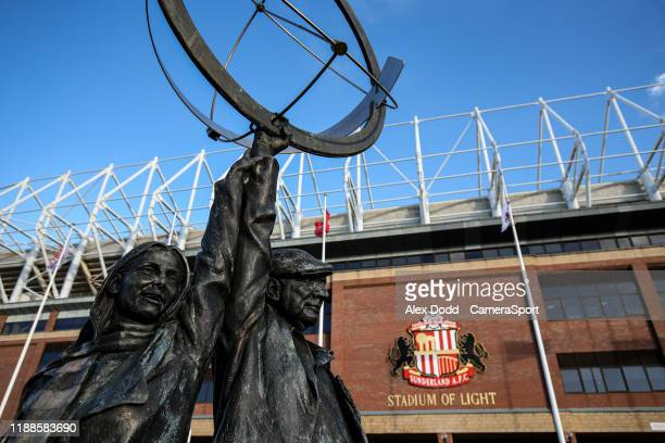 A general view of the Stadium of Light during the Sky Bet League One match between Sunderland and Blackpool at Stadium of Light on December 14 2019...