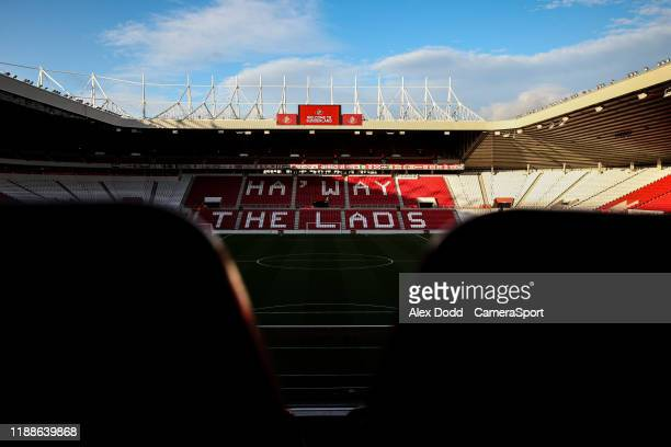 A general view of The Stadium Of Light home of Sunderland AFC during the Sky Bet League One match between Sunderland and Blackpool at Stadium of...