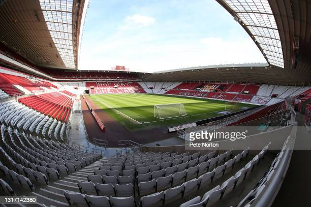 General view of the Stadium of Light prior to the Sky Bet League One match between Sunderland and Northampton Town at Stadium of Light on May 09,...