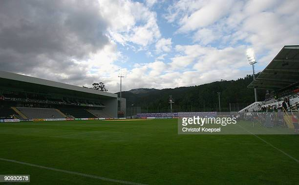 General view of the stadium of Madeira before the UEFA Europa League match between Nacional Funchal and SV Werder Bremen on September 17, 2009 in...