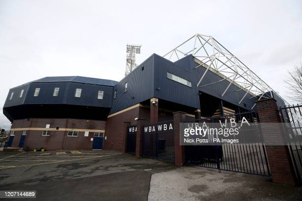 General view of the stadium outside The Hawthorns, home of West Bromwich Albion Football Club, following yesterday's announcement that the English...