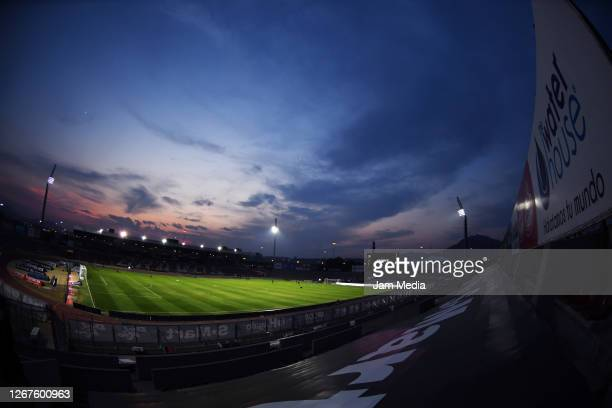 General view of the stadium prior the 6th round match between FC Juarez and Leon as part of the Torneo Guard1anes 2020 Liga MX at Olimpico Benito...