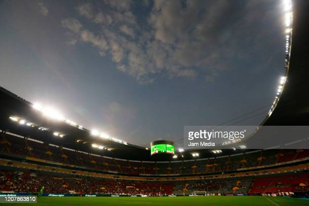 General view of the stadium prior the 7th round match between Atlas and Pachuca as part of the Torneo Clausura 2020 Liga MX at Jalisco Stadium on...