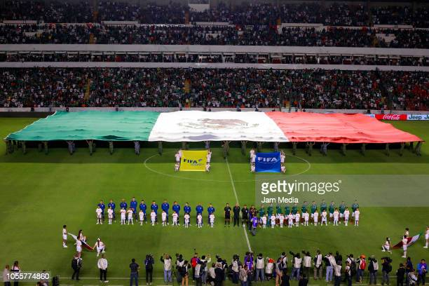 General view of the stadium prior the international friendly match between Mexico and Chile at La Corregidora Stadium on October 16 2018 in Queretaro...