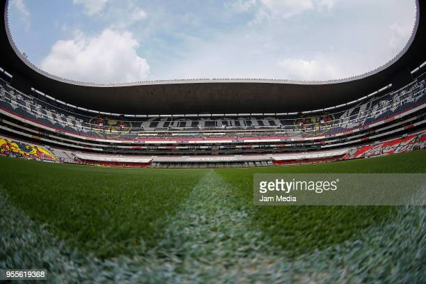 General view of the stadium prior the quarter finals second leg match between America and Pumas UNAM as part of the Torneo Clausura 2018 Liga MX at...