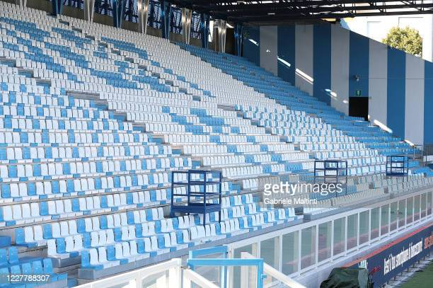 General view of the stadium prior the Serie A match between SPAL and Torino FC at Stadio Paolo Mazza on July 26, 2020 in Ferrara, Italy.