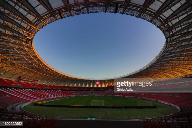 General view of the stadium prior to a group B match of Copa CONMEBOL Libertadores 2021 between Internacional and Always Ready at Beira-Rio Stadium...