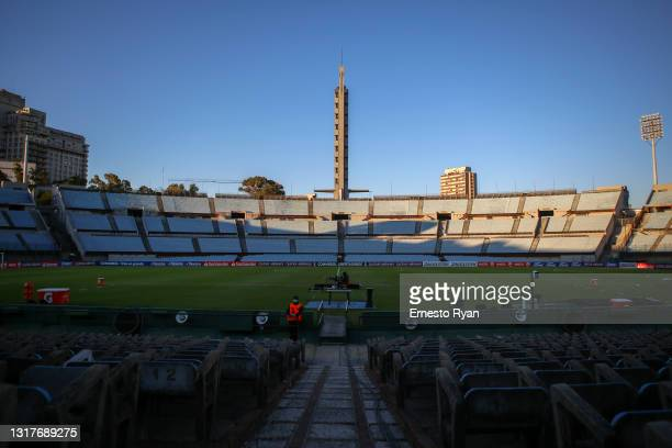 General view of the stadium prior to a match between Rentistas and Sao Paulo as part of group E of Copa CONMEBOL Libertadores 2021 at Centenario...