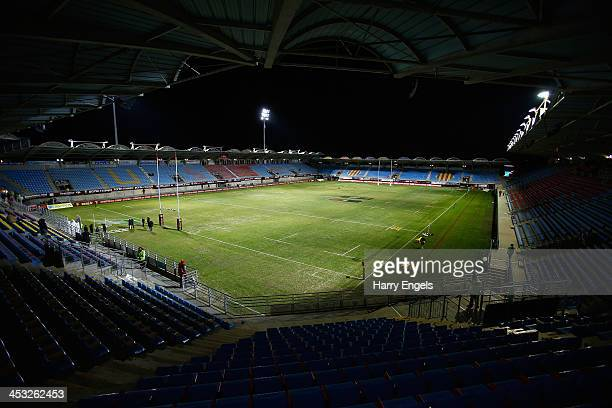 A general view of the stadium prior to kick off during the Top 14 match between Perpignan and ASM Clermont Auvergne at Stade Aime Giral on November...