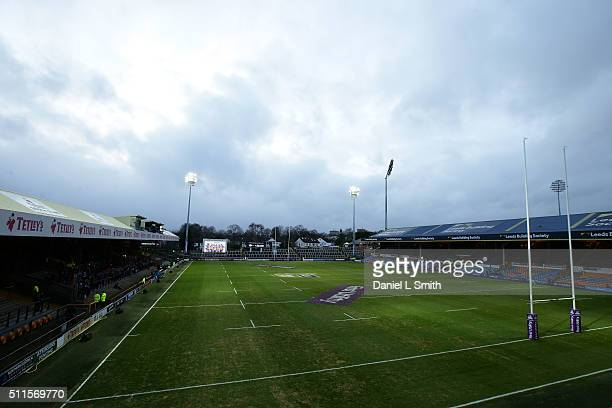 A general view of the stadium prior to kick off in the World Club Series match between Leeds Rhinos and North Queensland Cowboys at Headingley...