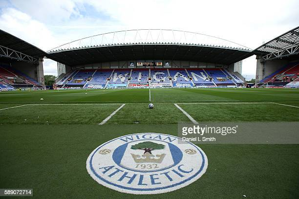 General view of the stadium prior to kick off to the Sky Bet Championship League match between Wigan Athletic and Blackburn Rovers at DW Stadium on...