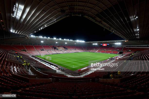 A general view of the stadium prior to kickoff during the Barclays Premier League match between Sunderland and Manchester City at The Stadium of...