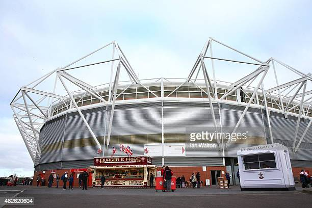 A general view of the stadium prior to kickoff during the Barclays Premier League match between Southampton and Swansea City at St Mary's Stadium on...