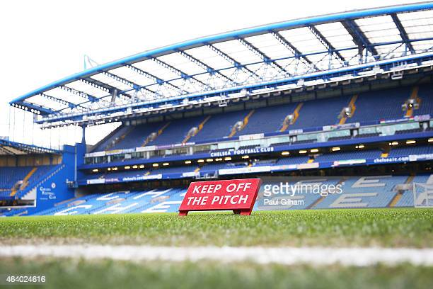 A general view of the stadium prior to kickoff during the Barclays Premier League match between Chelsea and Burnley at Stamford Bridge on February 21...