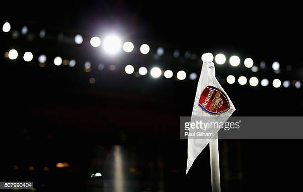 A general view of the stadium prior to kickoff during the Barclays Premier League match between Arsenal and Southampton at the Emirates Stadium on...