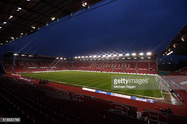 A general view of the stadium prior to kickoff during the Barclays Premier League match between Stoke City and Newcastle United at the Britannia...