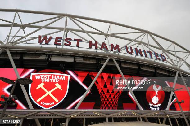A general view of the stadium prior to kickoff during the Premier League match between West Ham United and Tottenham Hotspur at the London Stadium on...