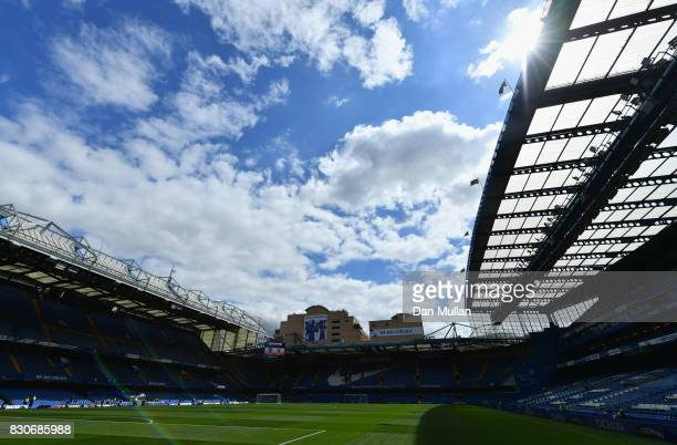A general view of the stadium prior to kickoff during the Premier League match between Chelsea and Burnley at Stamford Bridge on August 12 2017 in...