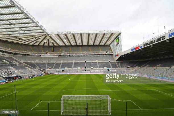 A general view of the stadium prior to kickoff during the Premier League match between Newcastle United and Liverpool at St James Park on October 1...