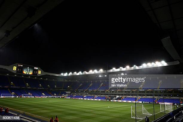 A general view of the stadium prior to kickoff during the UEFA Europa League Group J match between Tottenham Hotspur and AS Monaco at White Hart Lane...