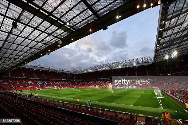 A general view of the stadium prior to kickoff during the UEFA Europa League Group A match between Manchester United FC and Fenerbahce SK at Old...
