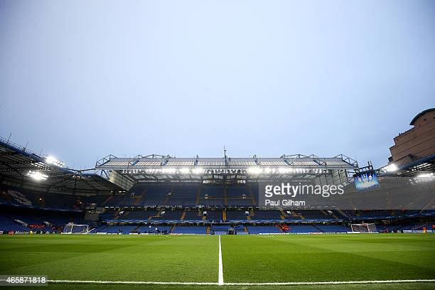 A general view of the stadium prior to kickoff during the UEFA Champions League Round of 16 second leg match between Chelsea and Paris SaintGermain...