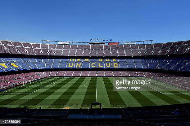 A general view of the stadium prior to kickoff during the UEFA Champions League Semi Final first leg match between FC Barcelona and FC Bayern...