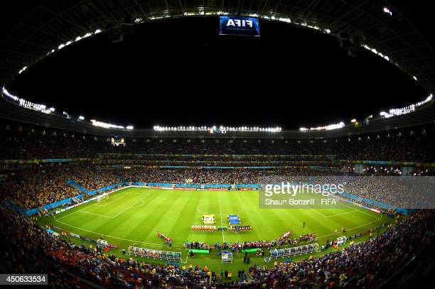 A general view of the stadium prior to the 2014 FIFA World Cup Brazil Group C match between Cote D'Ivoire and Japan at Arena Pernambuco on June 14...