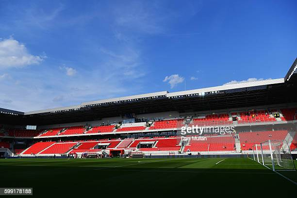A general view of the stadium prior to the 2018 FIFA World Cup Group F qualifying match between Slovakia and England at City Arena on September 4...