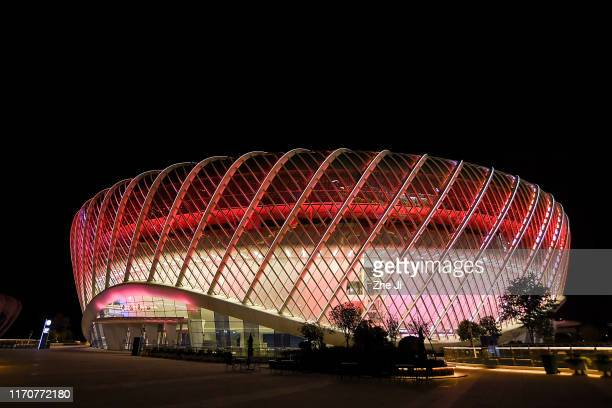 A general view of the stadium prior to the 2019 Dongfeng Motor Wuhan Open at Optics Valley International Tennis Center on September 24 2019 in Wuhan...