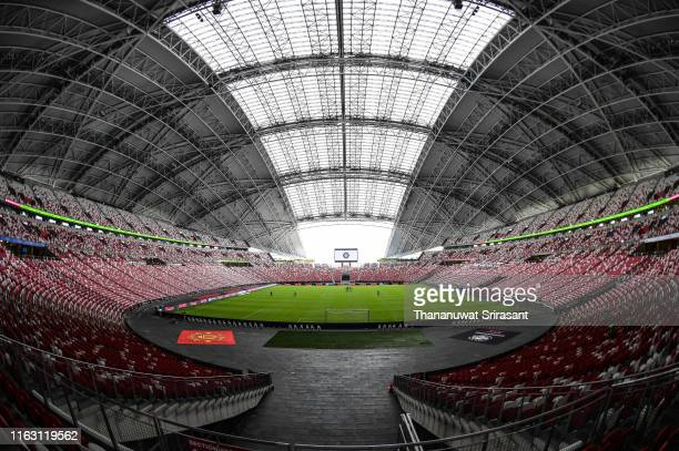 General view of the stadium prior to the 2019 International Champions Cup match between Manchester United and FC Internazionale at the Singapore...