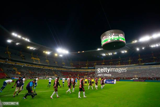 General view of the stadium prior to the 2nd round match between Atlas and Puebla as part of the Torneo Clausura 2020 Liga MX at Jalisco Stadium on...