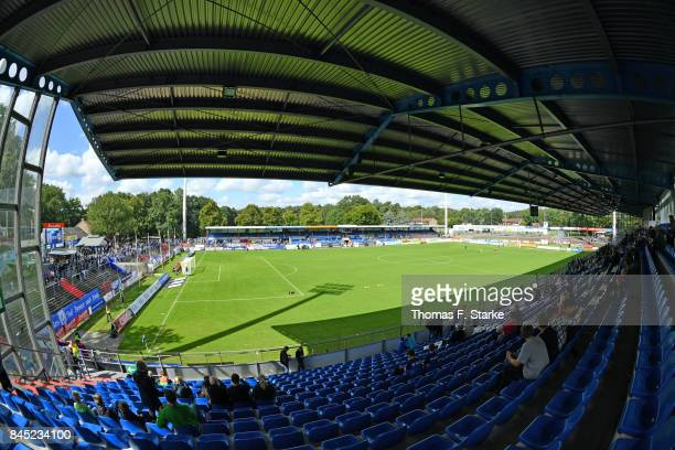 A general view of the stadium prior to the 3 Liga match between SV Meppen and VfR Aalen at Haensch Arena on September 10 2017 in Meppen Germany