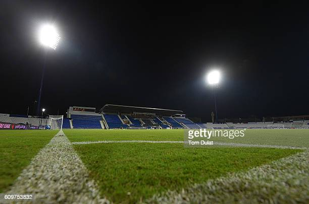A general view of the stadium prior to the Arabia Gulf League match between Al Nasr and Al Ahli at AlMaktoum Stadium on September 22 2016 in Dubai...