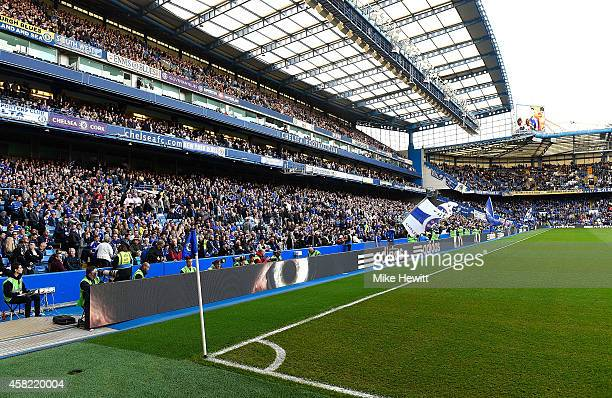 General view of the stadium prior to the Barclays Premier League match between Chelsea and Queens Park Rangers at Stamford Bridge on November 1 2014...