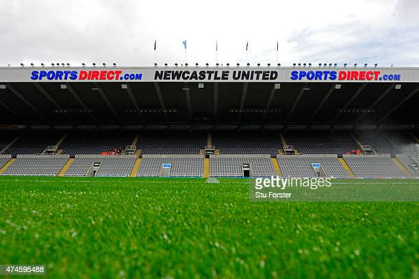 A general view of the stadium prior to the Barclays Premier League match between Newcastle United and West Ham United at St James' Park on May 24...