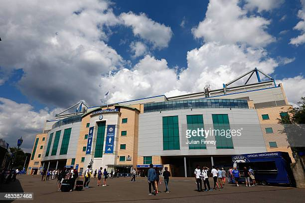 A general view of the stadium prior to the Barclays Premier League match between Chelsea and Swansea City at Stamford Bridge on August 8 2015 in...
