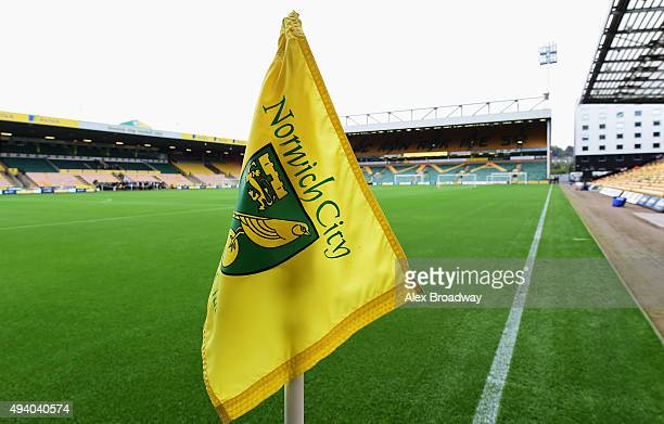 A general view of the stadium prior to the Barclays Premier League match between Norwich City and West Bromwich Albion at Carrow Road on October 24...